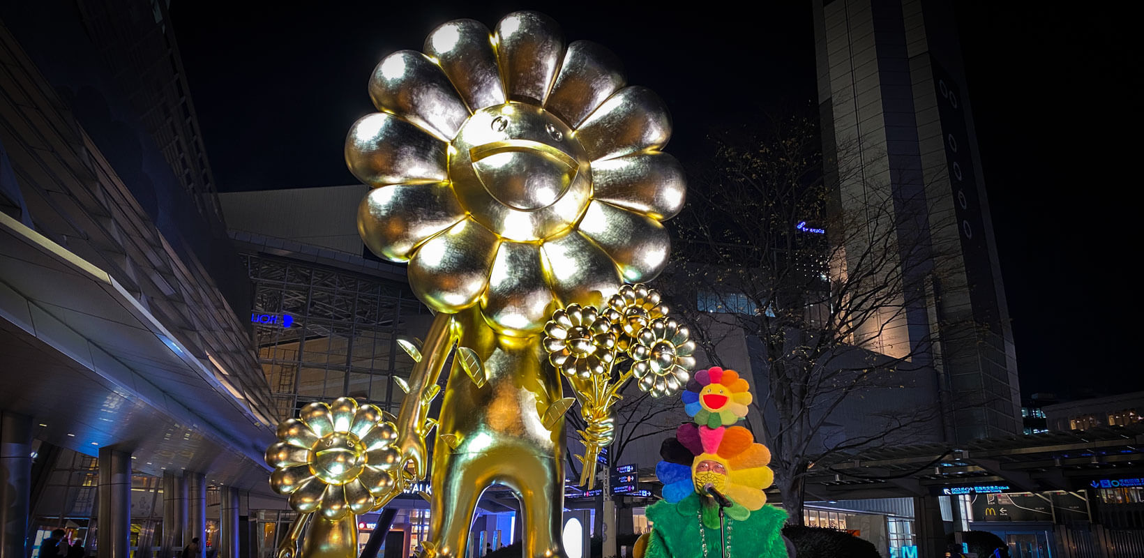 Don't Miss This Huge Golden Sculpture at Roppongi Hills