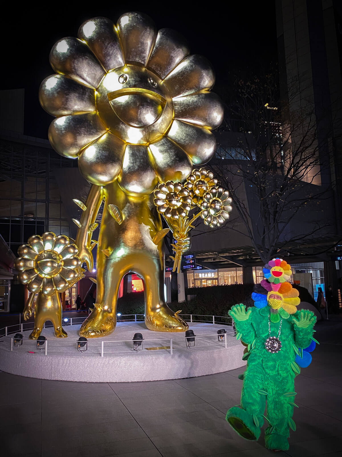 Takashi Murakami artwork in Roppongi Hills covered by GoConnect